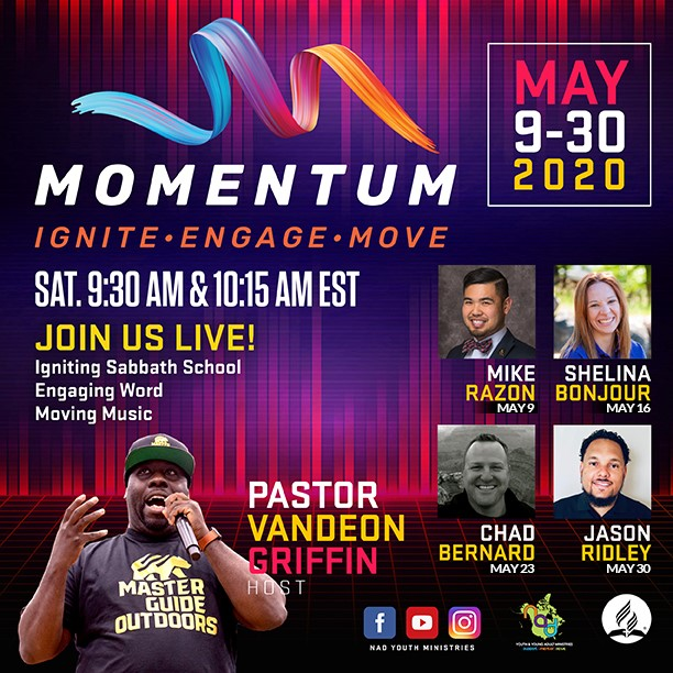 "NAD Youth and Young Adult Ministries Provide ""Momentum"" for Online Church & Sabbath School"