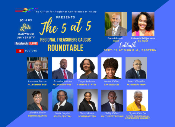 """Office for Regional Ministries Sponsors """"5 At 5"""" Series"""