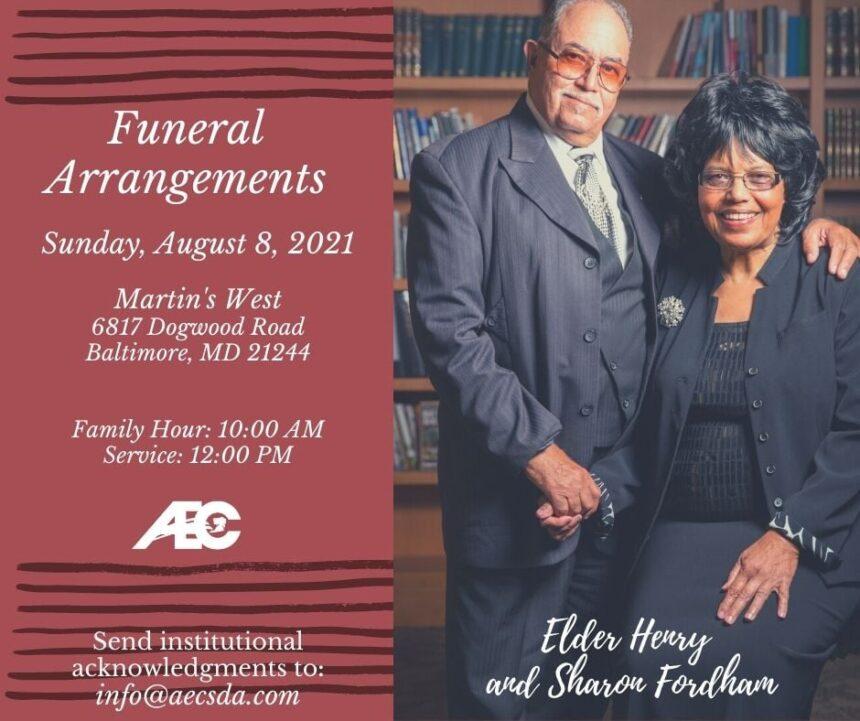 Celebration of Life and Arrangements for Elder Henry & Mrs. Sharon Fordham
