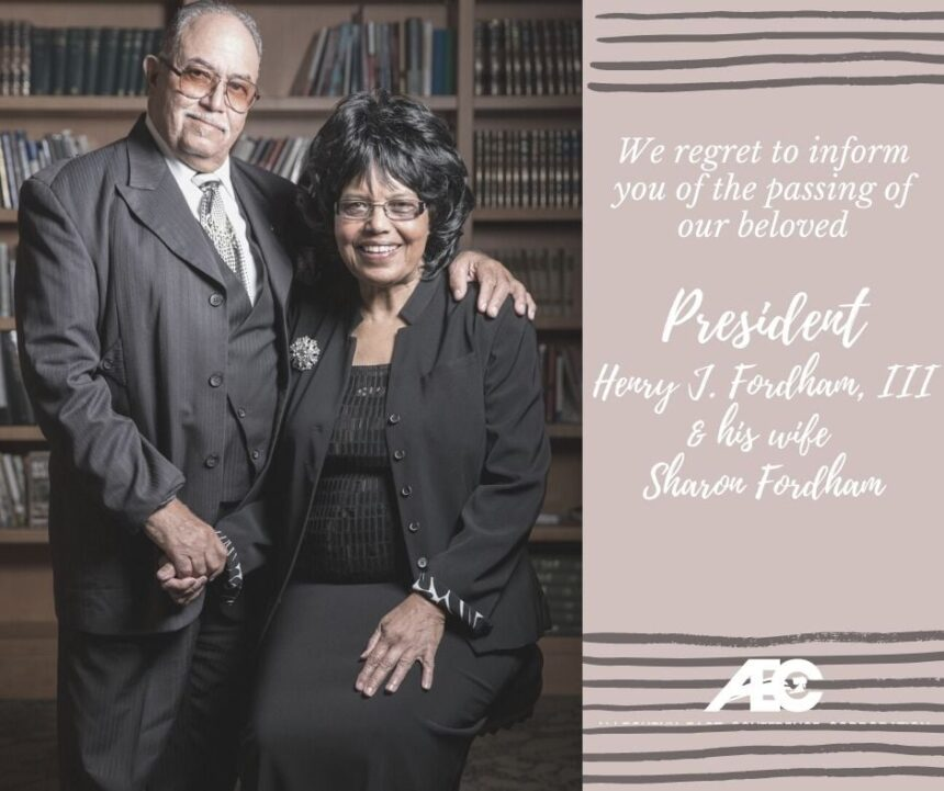 Statement on the Loss of Elder and Mrs. Fordham